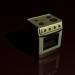 3d gas stove model buy - render