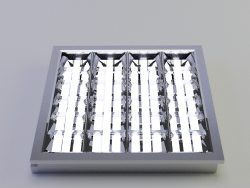 LED luminaire with a mirror screening grille LVO-4X18 - LTKO