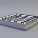 3d LED luminaire with a mirror screening grille LVO-4X18 - LTKO model buy - render