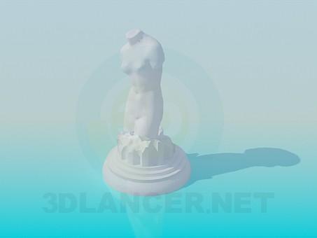 modelo 3D Escultura - escuchar
