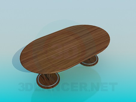 3d модель Большой стол в столовую комнату – превью