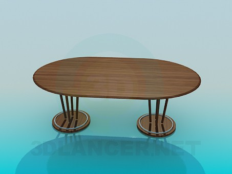 3d model The big table in the dining room - preview