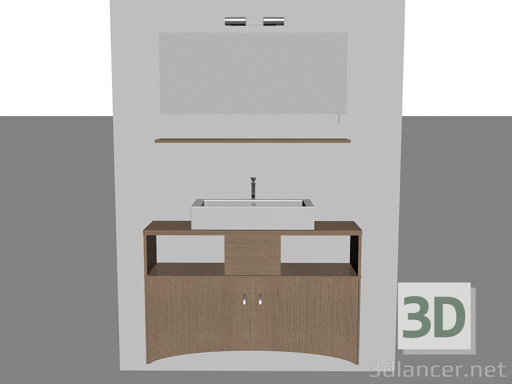 Modelo 3d Sistema modular para baño (canción 6) del fabricante ...
