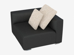 Sofa modular leather Donovan (section)