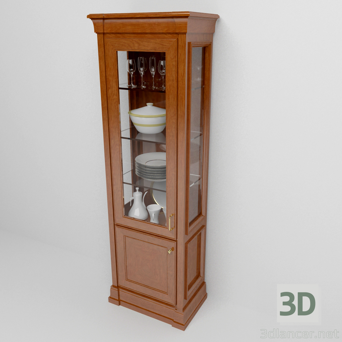 3d model plato de escaparate - vista previa