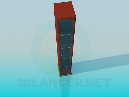 3d modeling Thin wall cabinet with shelves model free download