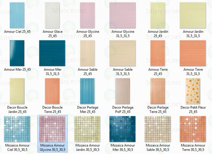 Descarga gratuita de textura Azulejo de la FAP colection_Amour - imagen