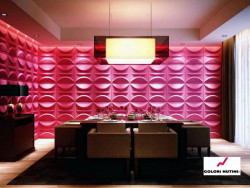 Gypsum 3D panels for walls.