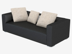 Modular leather sofa Donovan