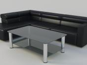 सोफा और कॉफी टेबल