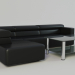 3d Sofa and coffee table model buy - render