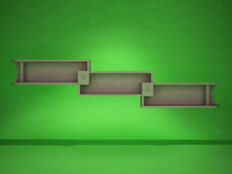 3d модель Полка навесная 2 – превью