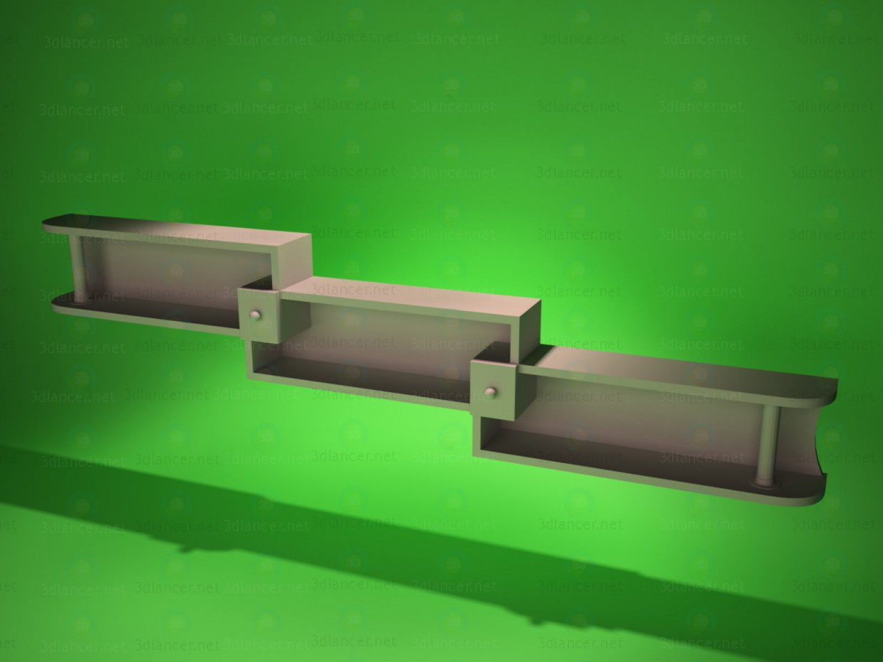 modelo 3D Estante de la pared 2 - escuchar