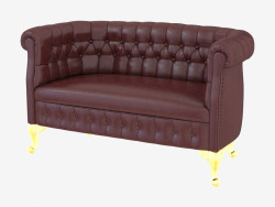 Classic Leather Sofa Chesterfield (13423)