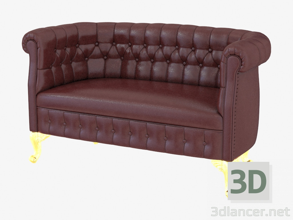 Modelo 3d sof de cuero cl sico chesterfield 13423 del for Sofas de estilo clasico