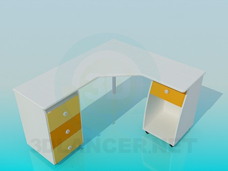 3d modeling Angular desk model free download