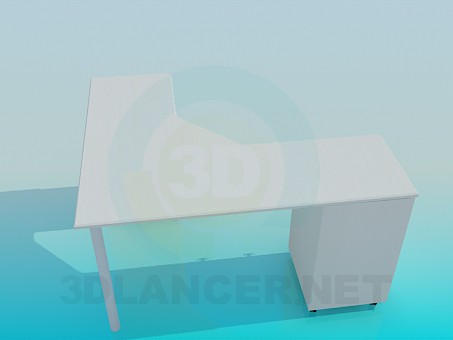 3d модель Угловая парта – превью
