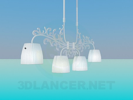 3d modeling Flat chandelier model free download