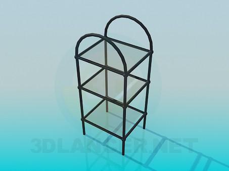 modelo 3D Soporte con estantes de vidrio - escuchar