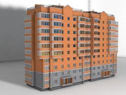 10 поверховий цегляний будинок