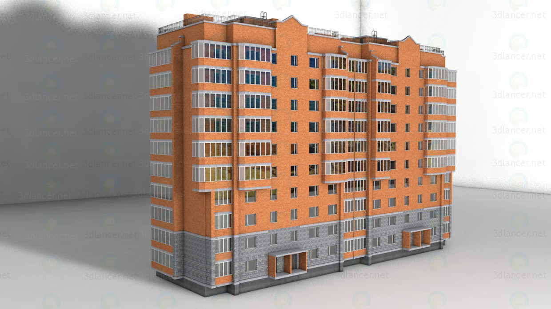 3d model casa de 10 pisos - vista previa