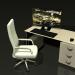 3D Bilgisayar masası ve sandalye bir rulo modeli satın - render