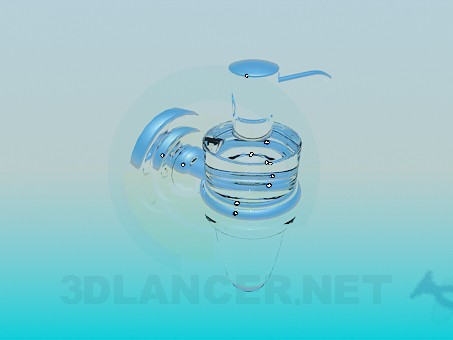 3d model Flask for liquid soap - preview