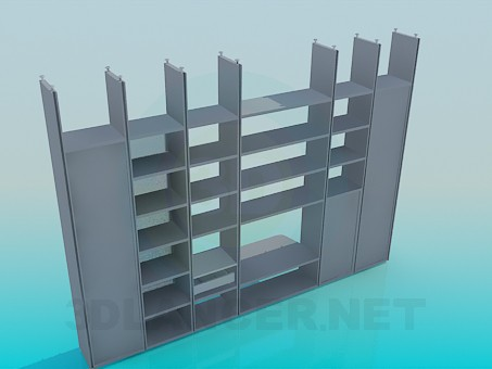 3d model Wall-cupboard attached to the ceiling - preview