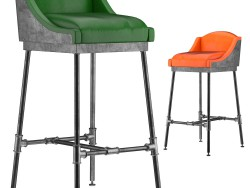 IRON SCAFFOLD BAR STOOL (6 colors)