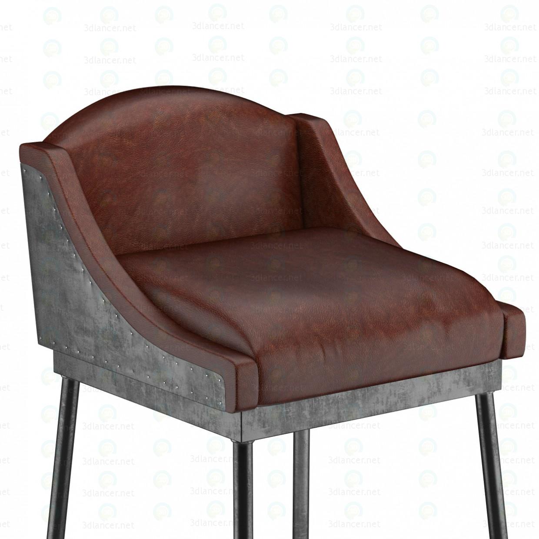 ANDAMIO BAR taburete de hierro (6 colores) 3D modelo Compro - render