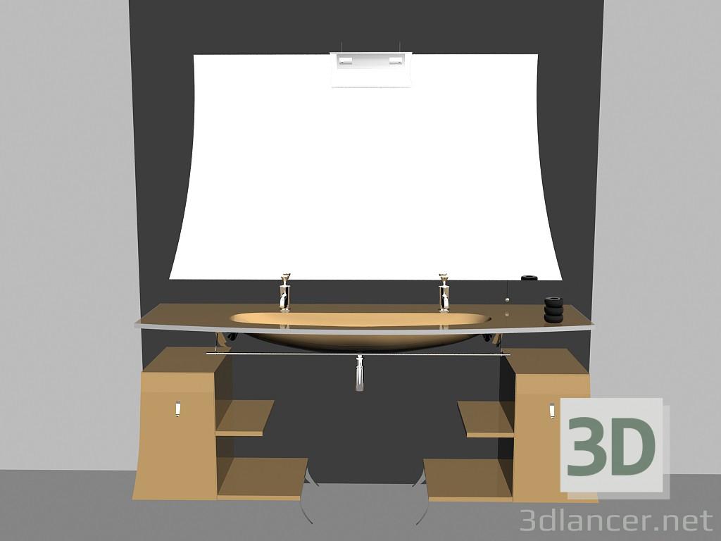 Modelo 3d Sistema modular para baño (canción) (15) del fabricante ...