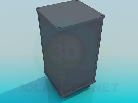 modelo 3D Gabinete alto - escuchar