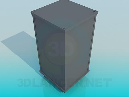 3d модель Высокая тумба – превью