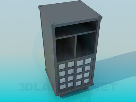 3d model High cabinet - preview