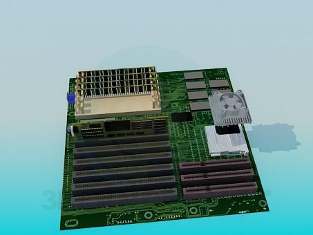 descarga gratuita de 3D modelado modelo Motherboard, Tarjeta madre