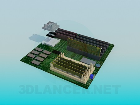 3d model Motherboard - preview