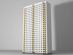 Casa residencial com diferente número de pisos