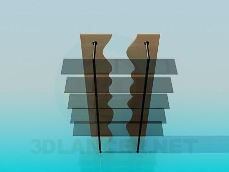 3d моделирование Стильная этажерка модель скачать бесплатно