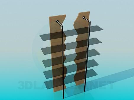 3d модель Стильная этажерка – превью