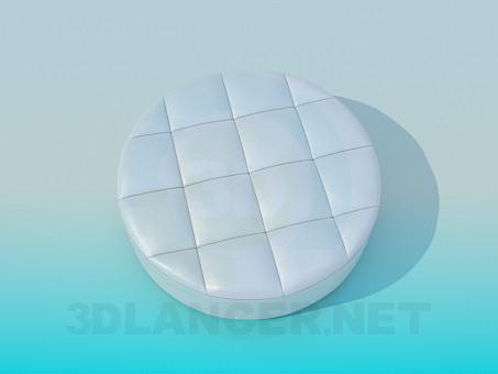 3d model Ottoman round - preview