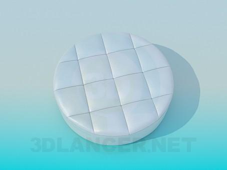 3d модель Пуфик круглый – превью