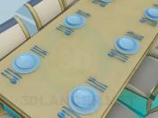 Стіл і стільці для гостей