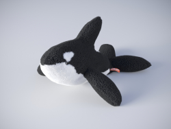 Killer whale soft toy from Wild republic