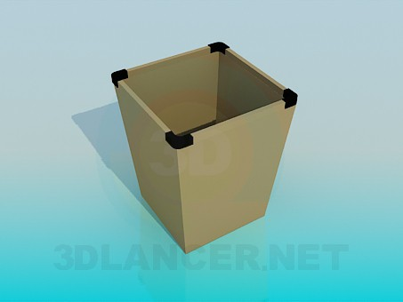 3d моделирование Ведро для мусора модель скачать бесплатно