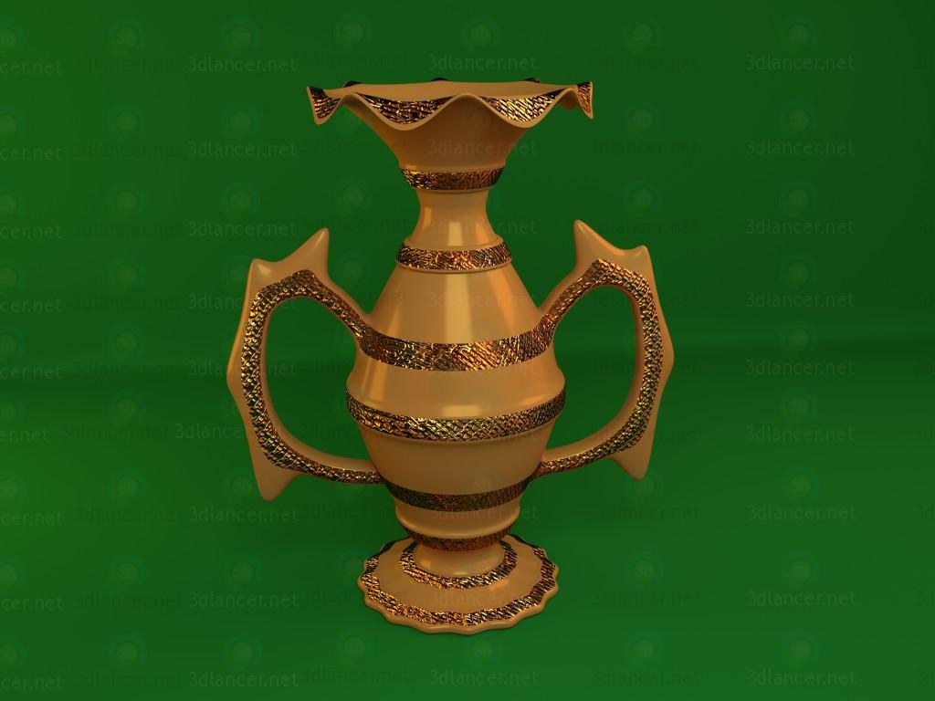 3d modeling Copper vase model free download