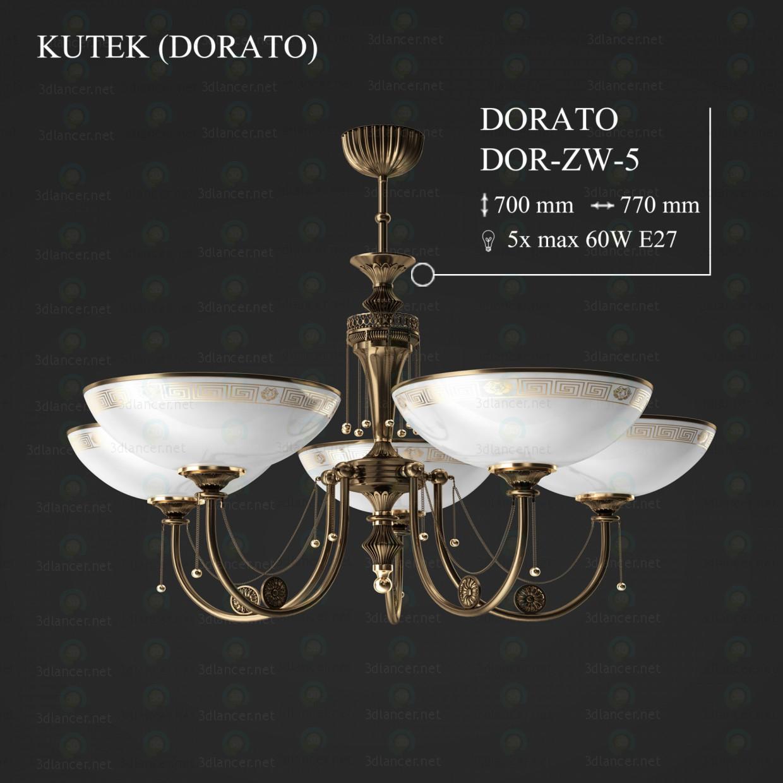 3d моделирование Люстра KUTEK DORATO DOR-ZW-5 модель скачать бесплатно