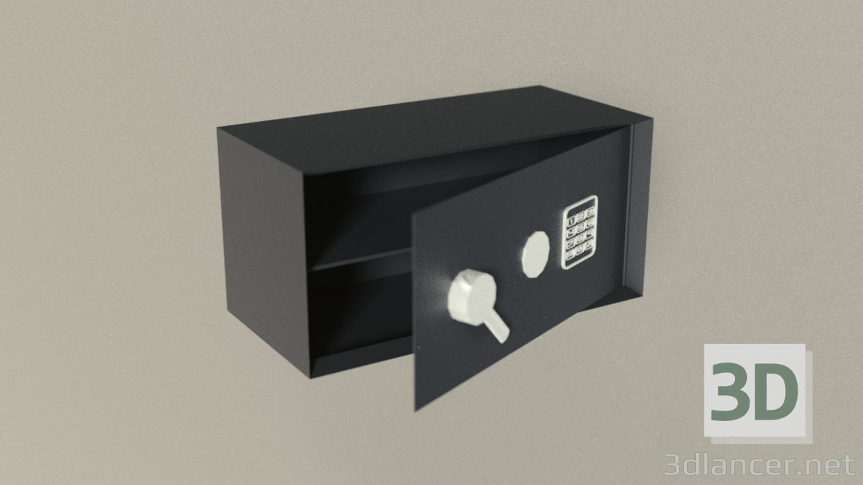 3d Home safe model buy - render
