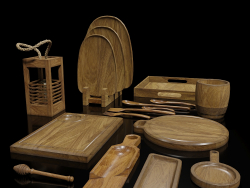 लकड़ी के बर्तन