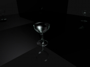 Glass wine glass