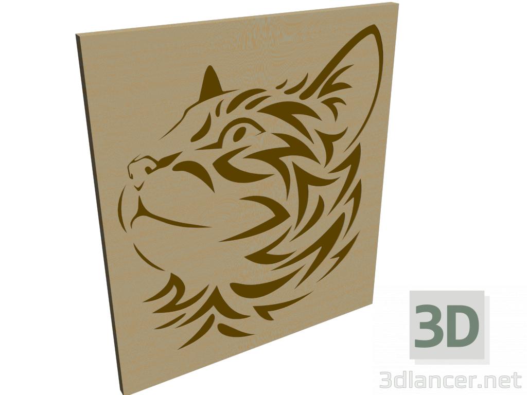 "3d model Panel ""Cat"" - preview"